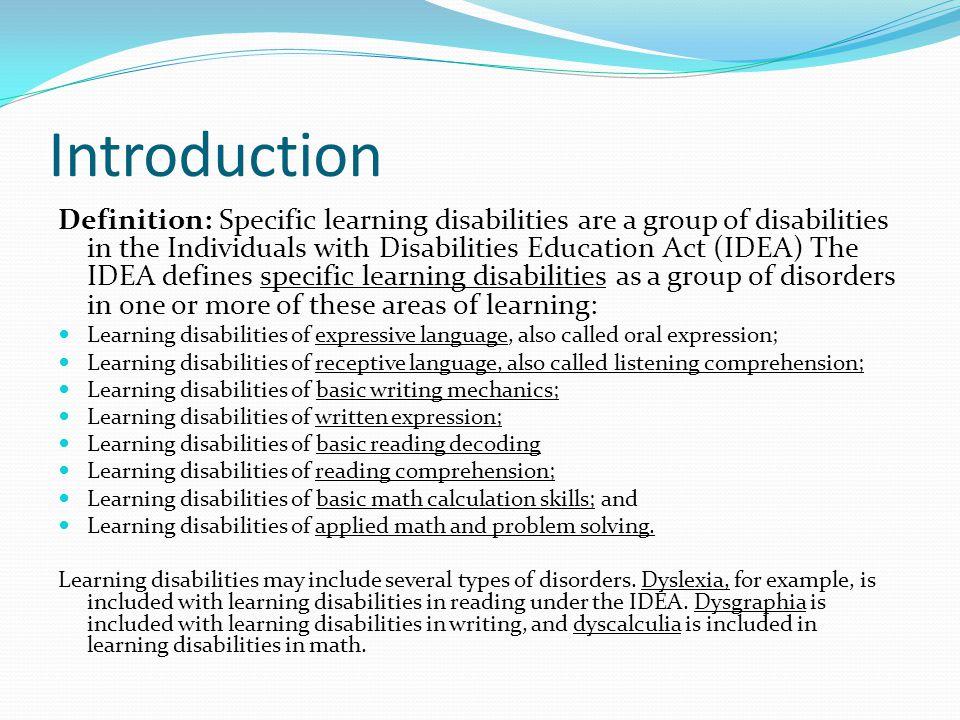 Understanding learning disabilities.