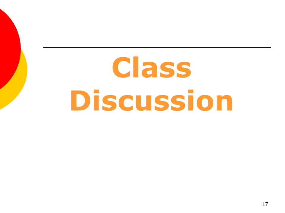 Class Discussion