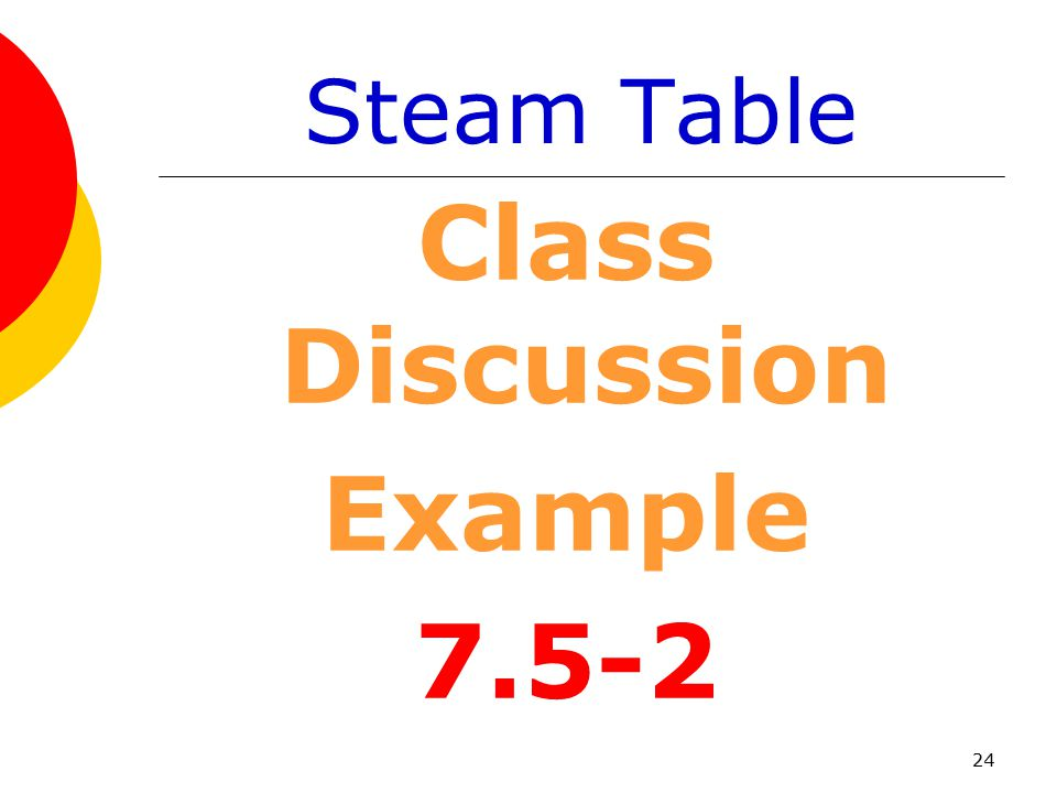 Class Discussion Example 7.5-2