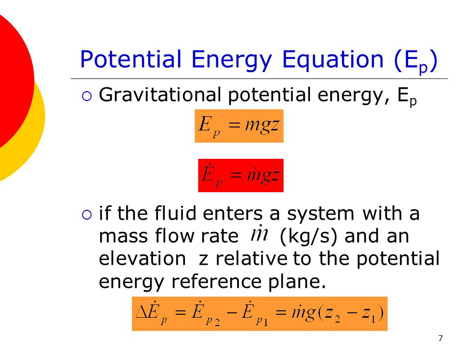 Potential Energy Equation (Ep)