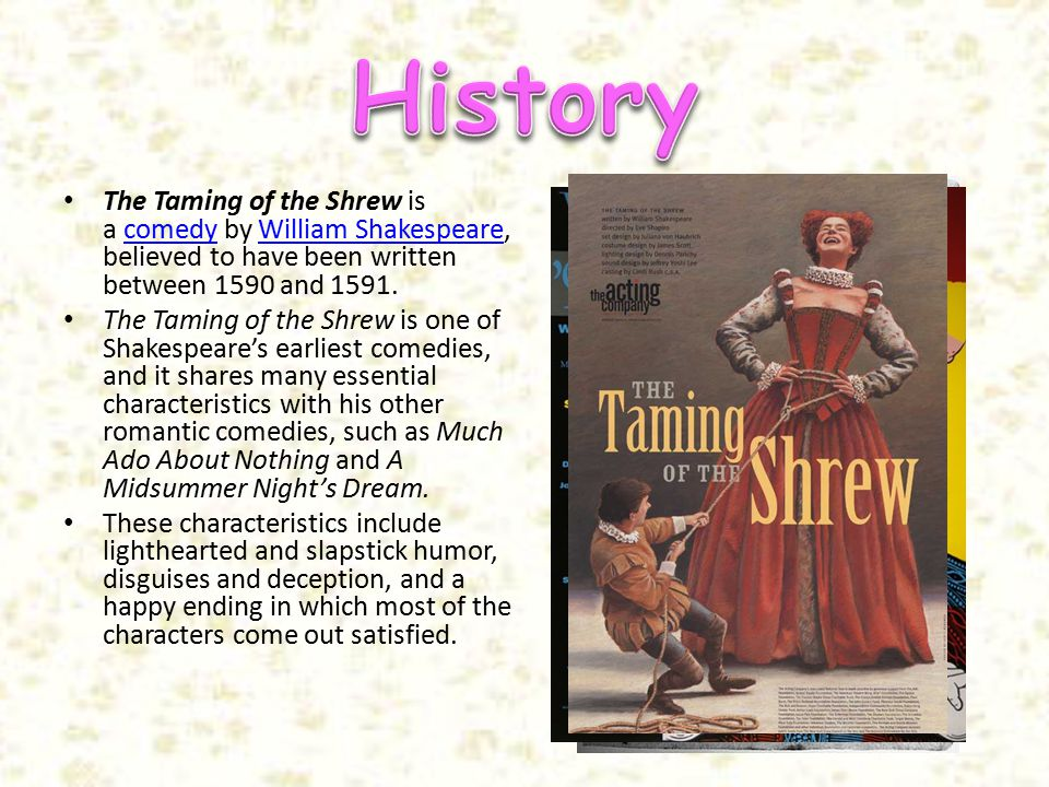 taming of the shrew written