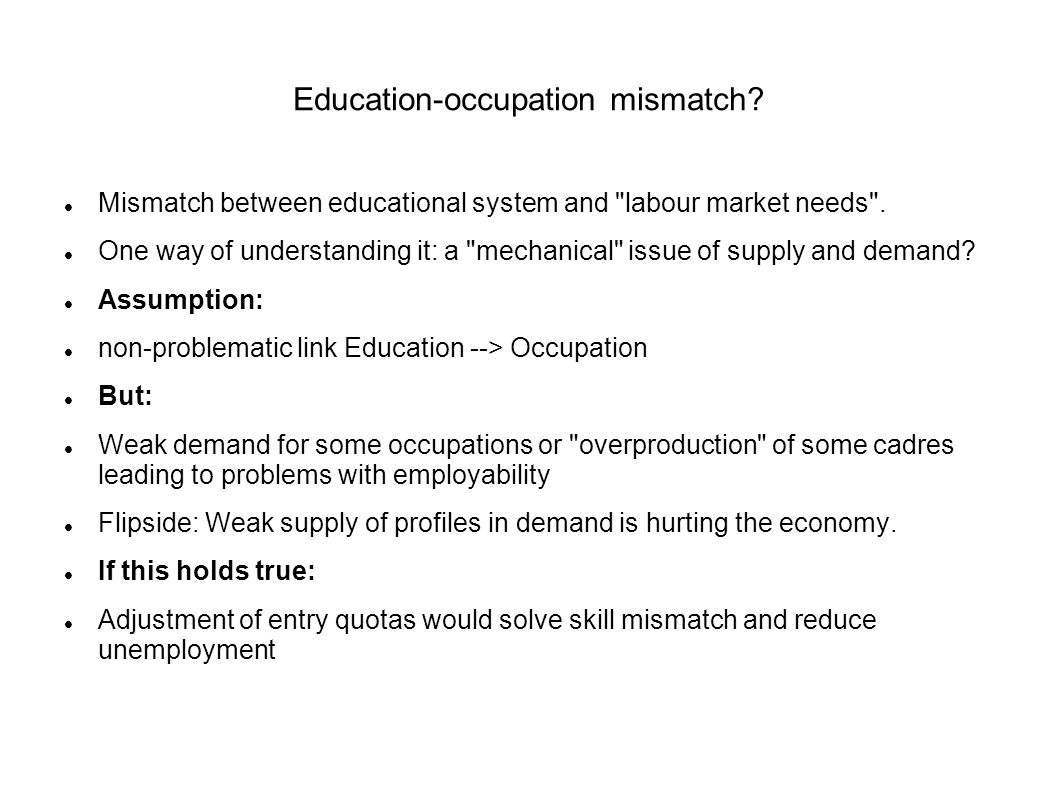Education-occupation mismatch