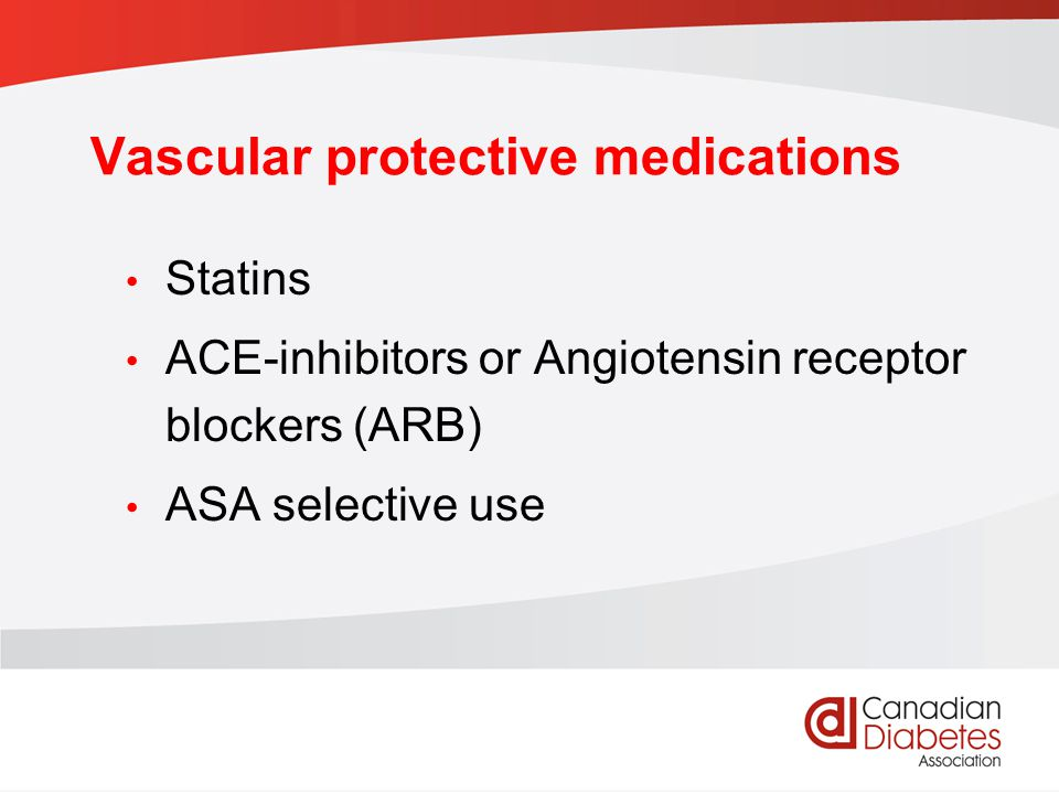 Vascular protective medications