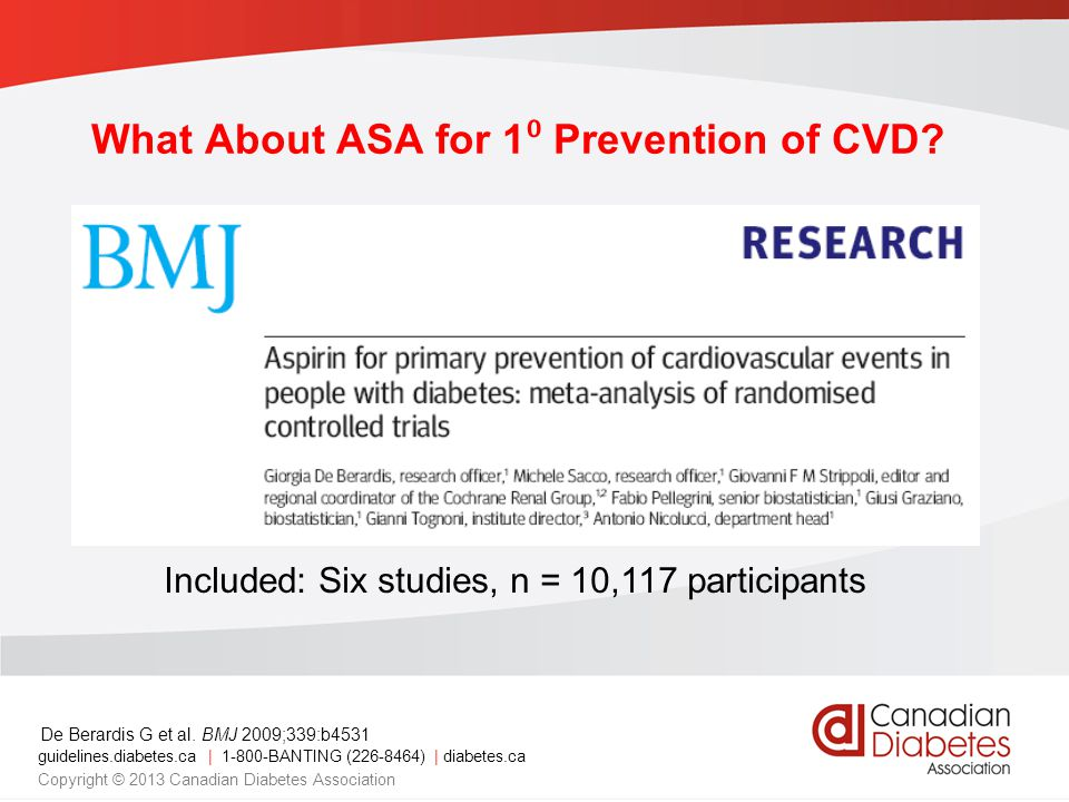 What About ASA for 1⁰ Prevention of CVD
