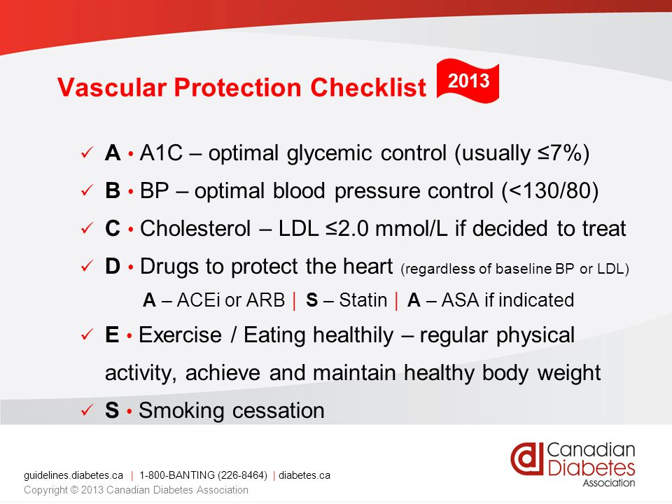 Vascular Protection Checklist