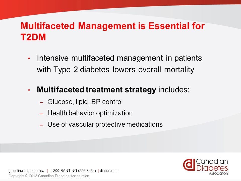 Multifaceted Management is Essential for T2DM