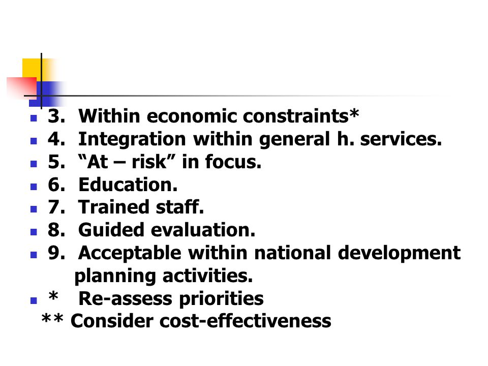 3. Within economic constraints*