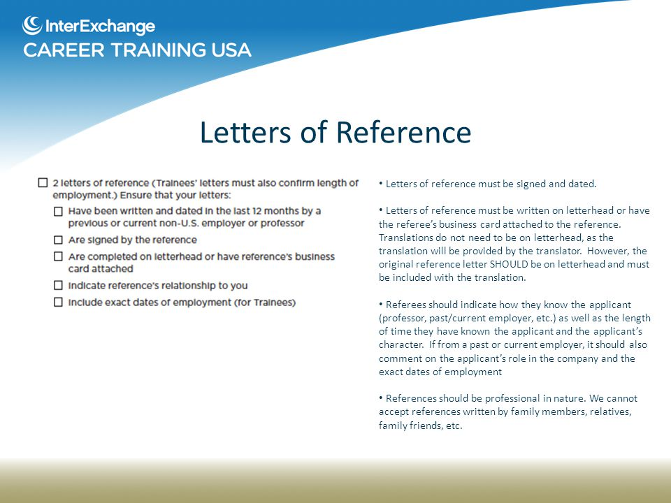 28 letters of reference
