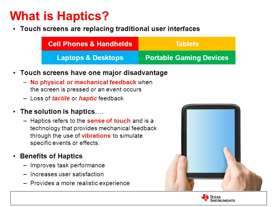 advantages of haptic technology pdf
