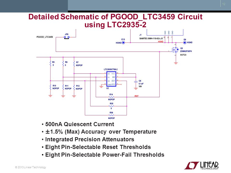 Detailed Schematic of PGOOD_LTC3459 Circuit using LTC2935-2