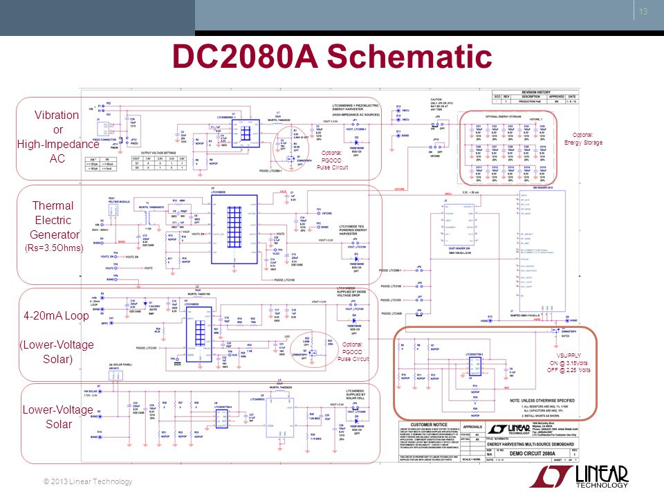 DC2080A Schematic Vibration or High-Impedance AC Thermal Electric
