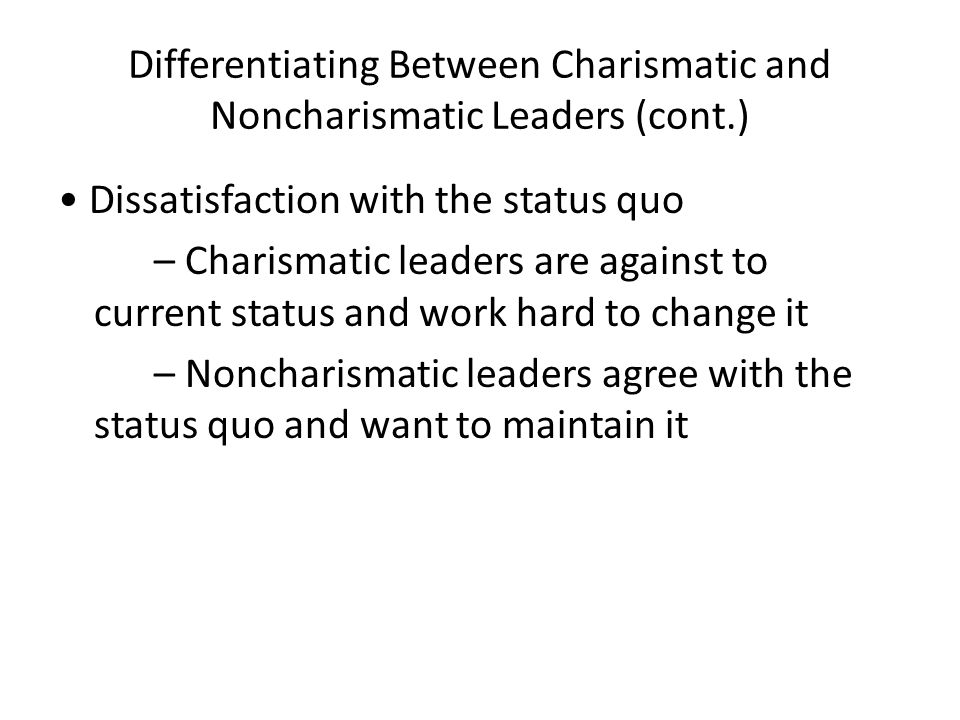 non charismatic leaders Video i made for school  charismatic vs non-charismatic political leaders & activists.