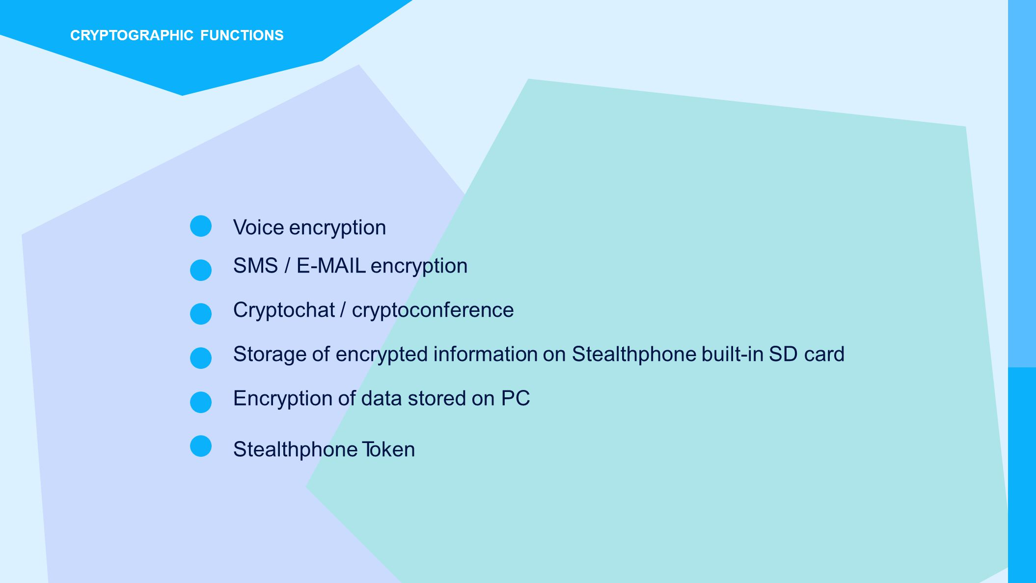 SMS /  encryption Cryptochat / cryptoconference