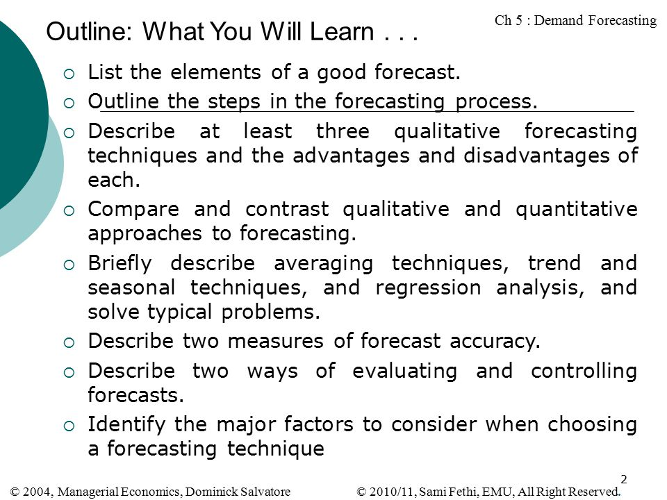 Chapter 5: Demand Forecasting - ppt download