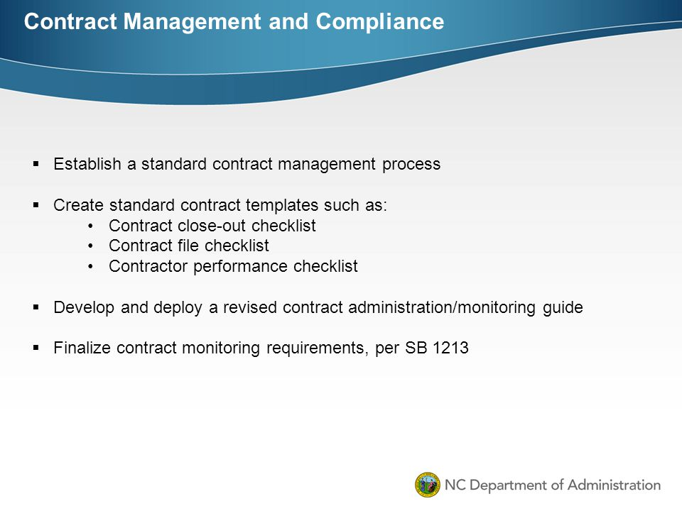 Contract Management and Compliance