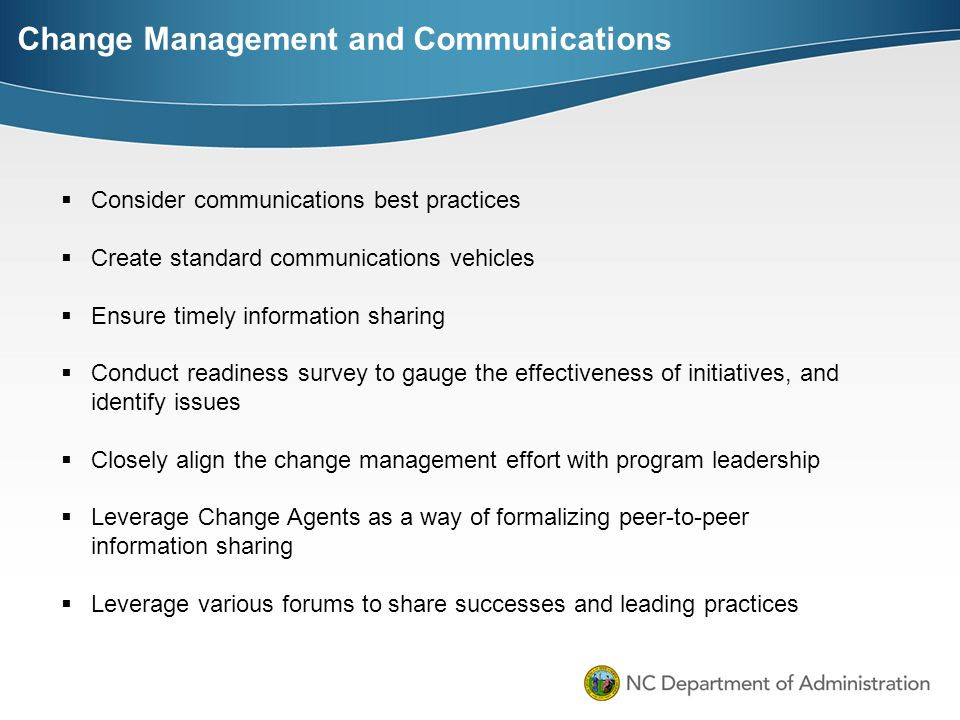 Change Management and Communications