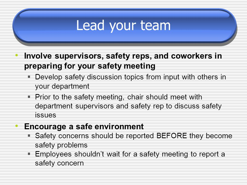 How to Present Effective Safety Meetings - ppt video online