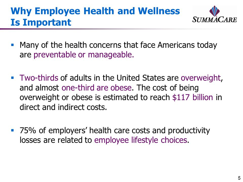 Why Employee Health and Wellness Is Important