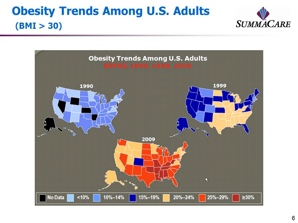 Obesity Trends Among U.S. Adults (BMI > 30)