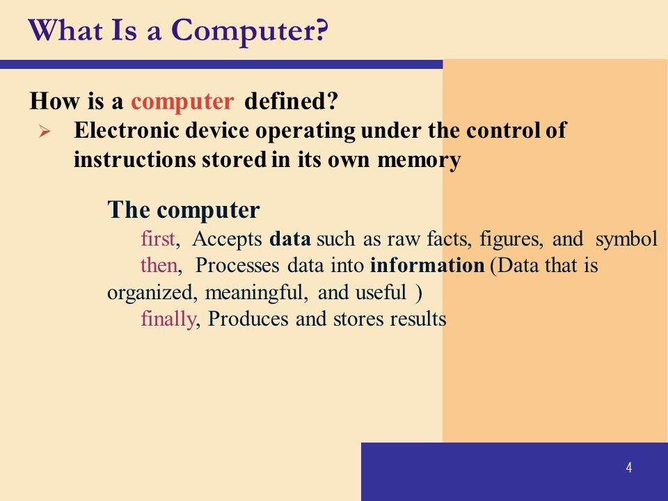 What Is a Computer How is a computer defined The computer