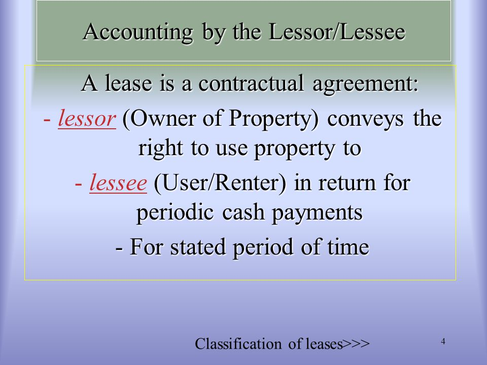 Accounting For Leases Chapter 15 Leases Ppt Video Online Download