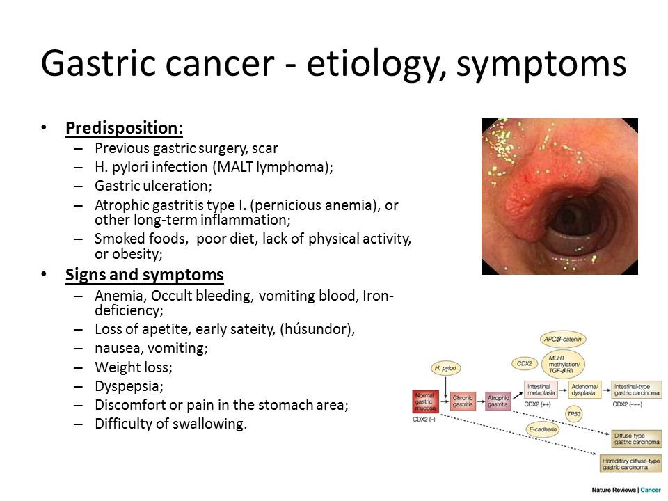 gastric cancer and anemia)