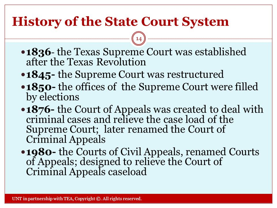 History of the State Court System