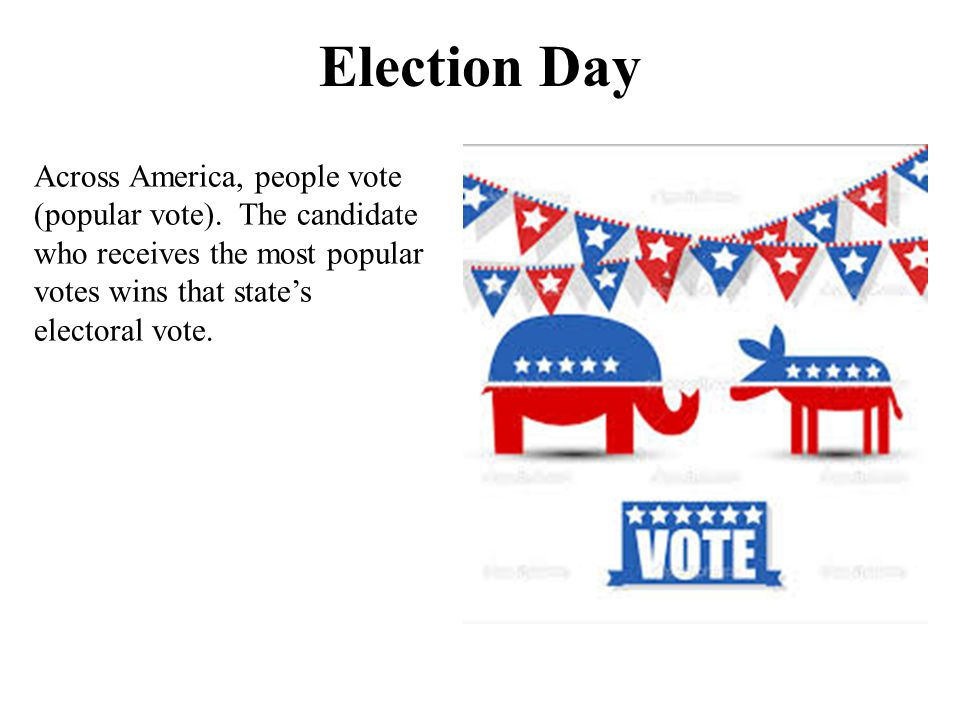 Election Day Across America, people vote (popular vote).