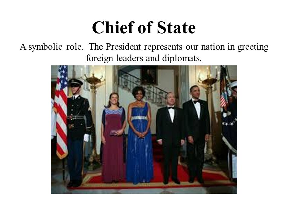 Chief of State A symbolic role.