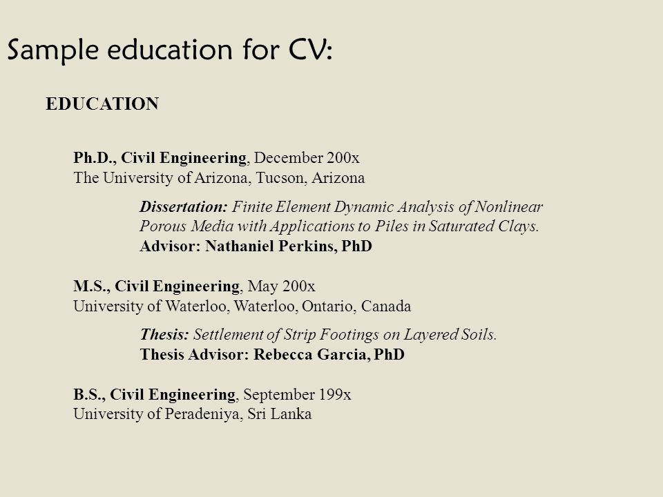 Beautiful Phd Civil Engineering Resume Frieze - Best Resume Examples ...