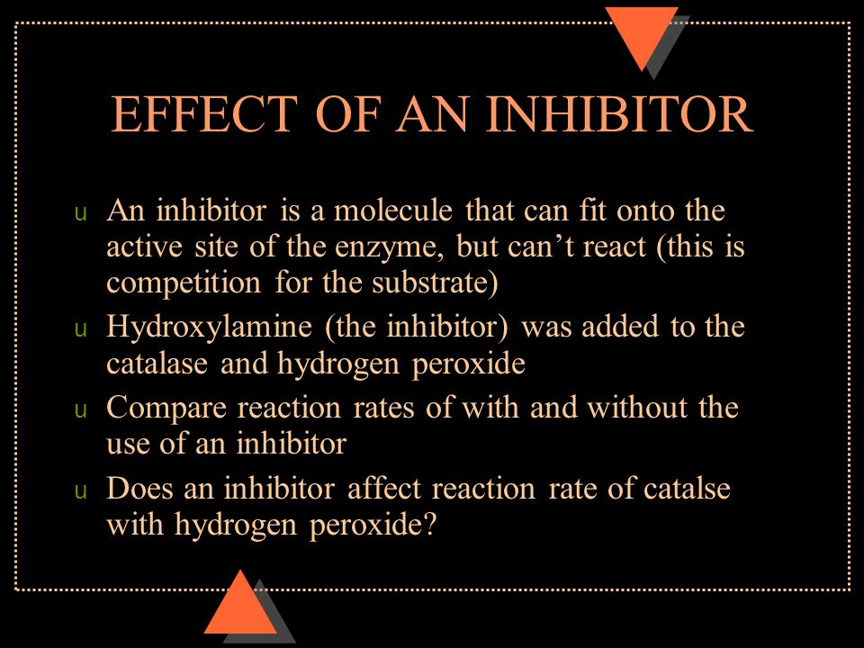 EFFECT OF AN INHIBITOR