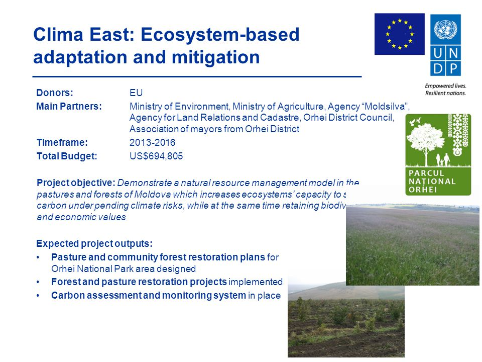 Clima East: Ecosystem-based adaptation and mitigation