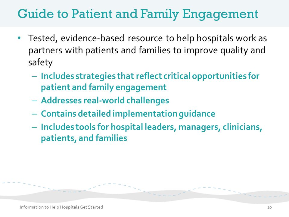 Guide to Patient and Family Engagement