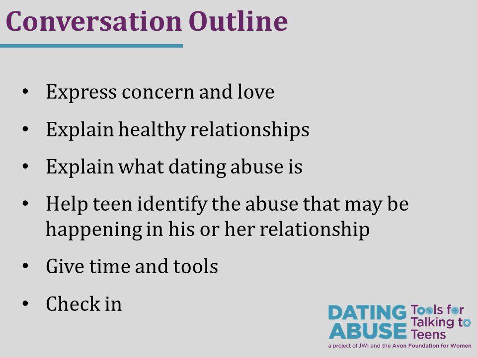 General outline for christian teen dating