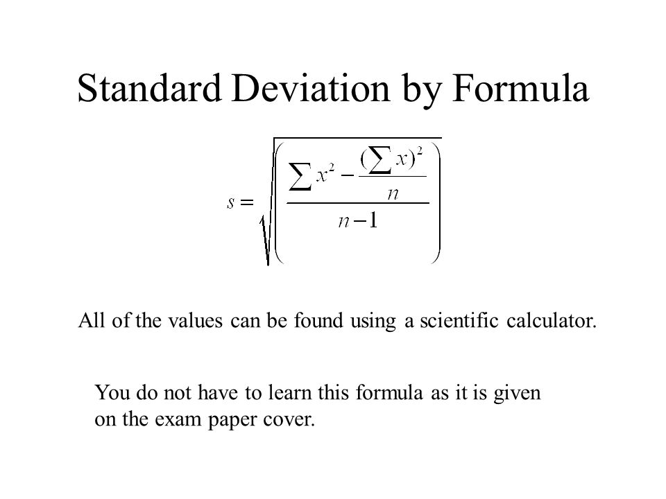 Standard Deviation Consider The Following Sets Of Data Ppt Video