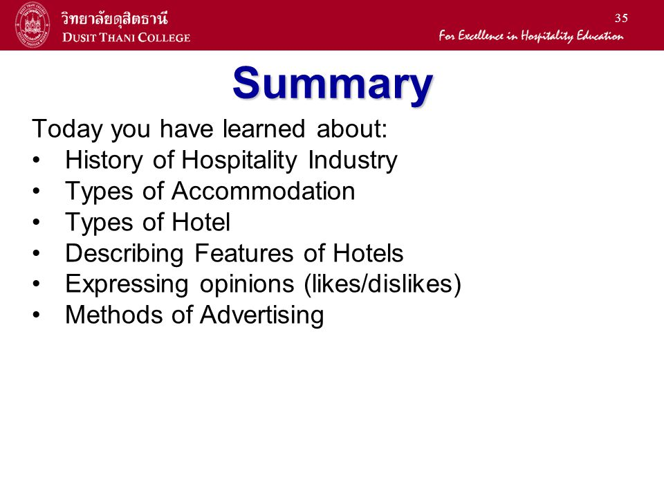 history of accommodation industry