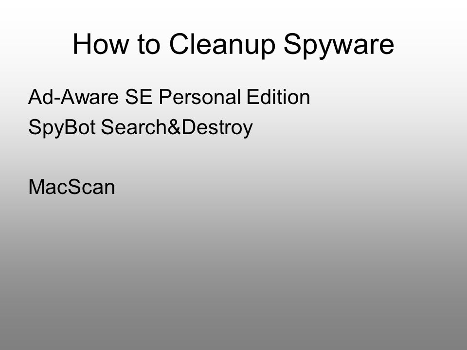 How to Cleanup Spyware Ad-Aware SE Personal Edition