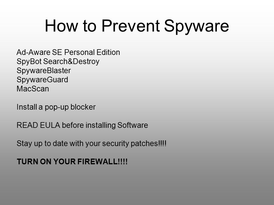 How to Prevent Spyware Ad-Aware SE Personal Edition