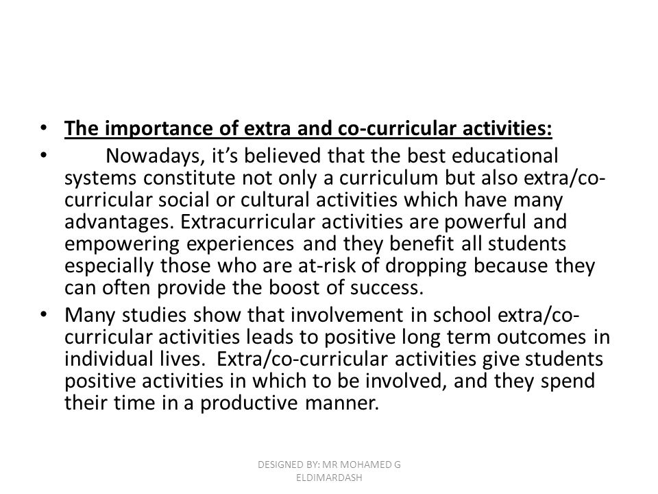 merits and demerits of co curricular activities
