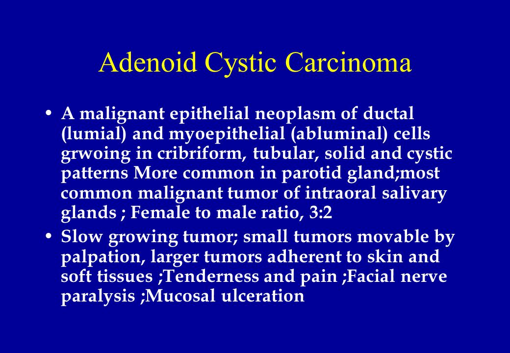 adenoid cystic carcinoma of salivary glands pdf