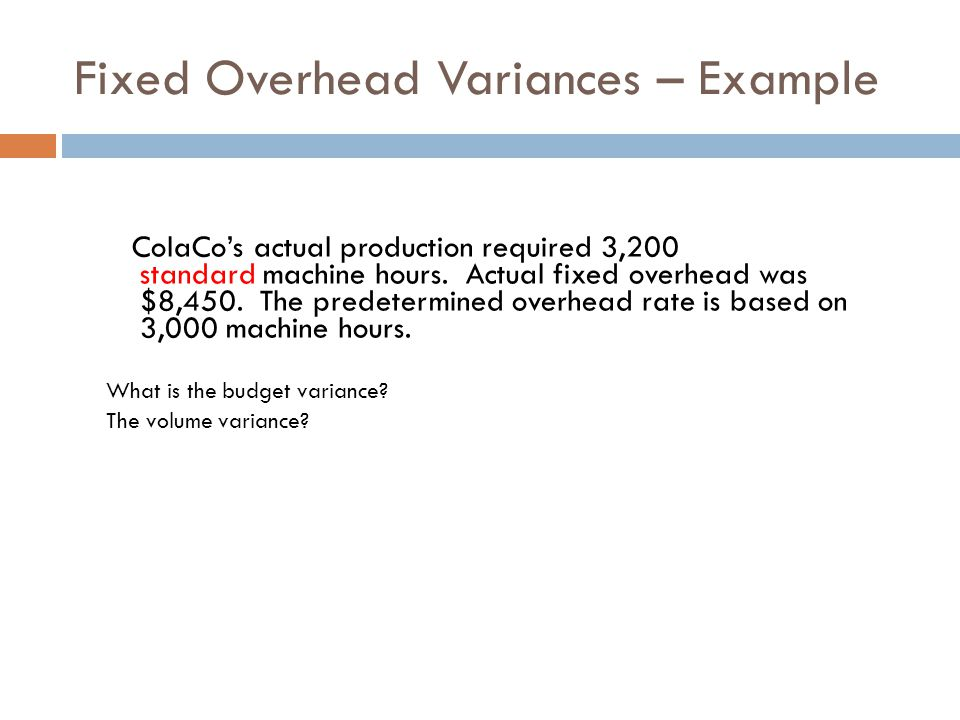 Standard Costing and Variance Analysis - ppt video online