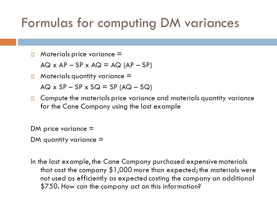 Standard Costing And Variance Analysis Ppt Video Online Download