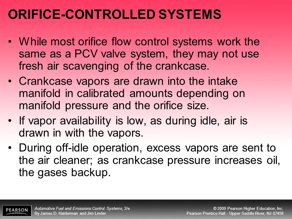 ORIFICE-CONTROLLED SYSTEMS