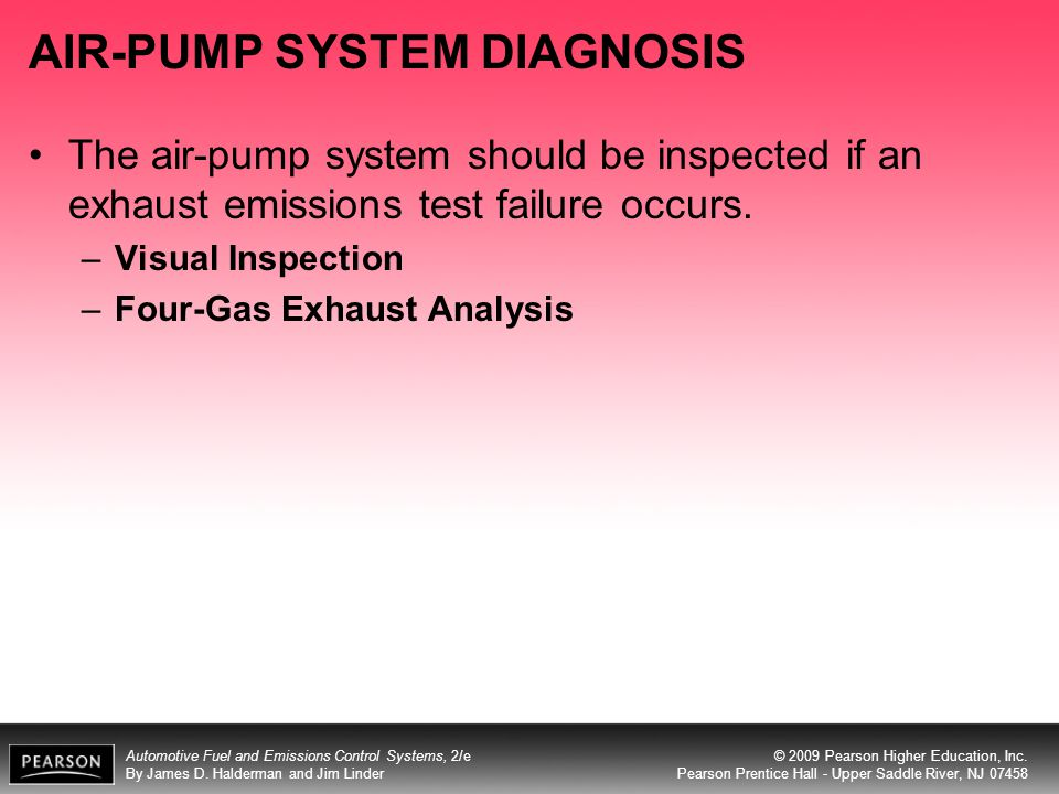 AIR-PUMP SYSTEM DIAGNOSIS