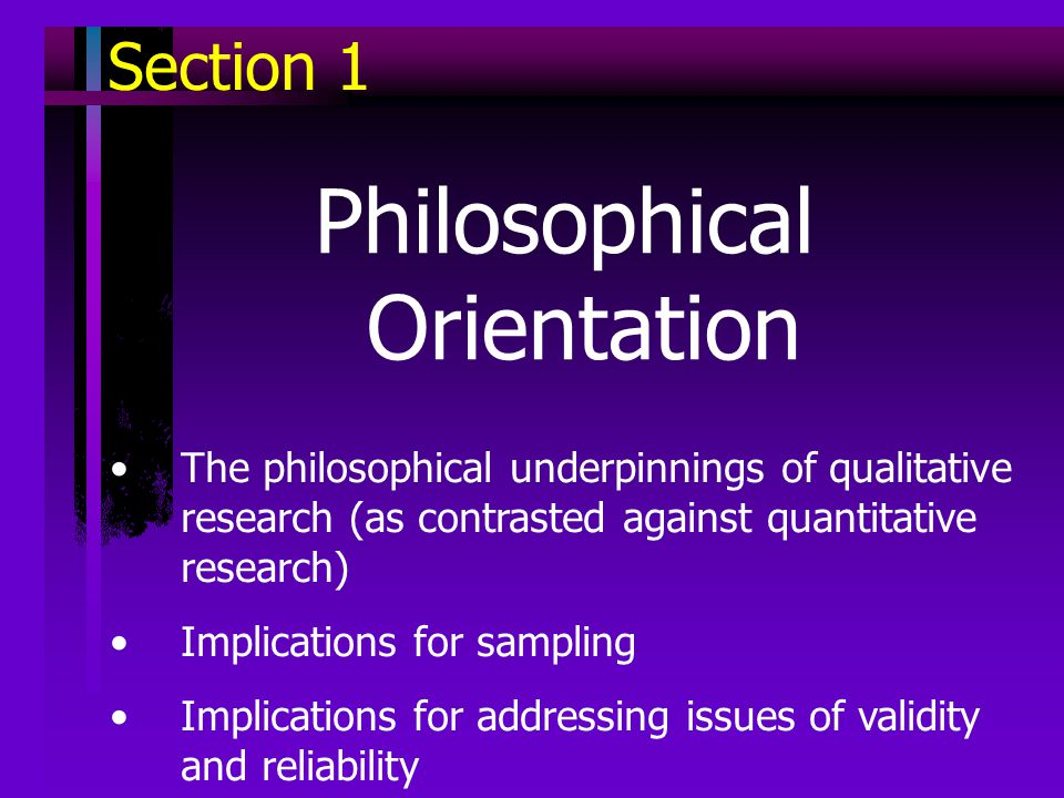 philosophical orientation