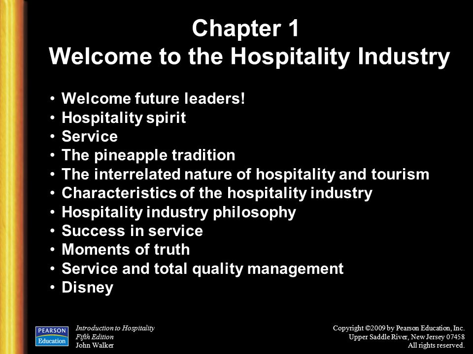 an essay on the hospitality industry Globalization is becoming more important for the hospitality industry now a days due to globalization it is hard to identify a product or service that is not influenced by a cross border transaction (parker, 2005.