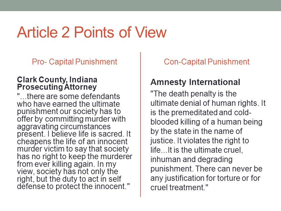 capital punishment pros cons