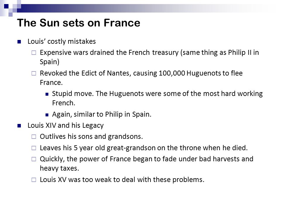 The Sun sets on France Louis' costly mistakes