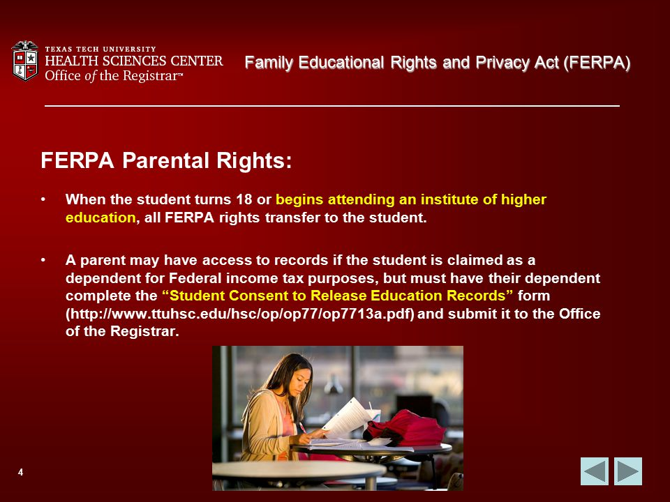 Family Educational Rights and Privacy Act (FERPA) - ppt download