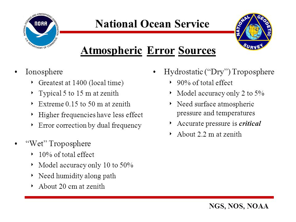 Atmospheric Error Sources